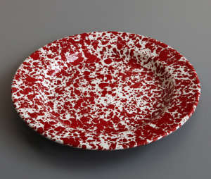 Marbled Enamel Plate from Labour and Wait, Remodelista