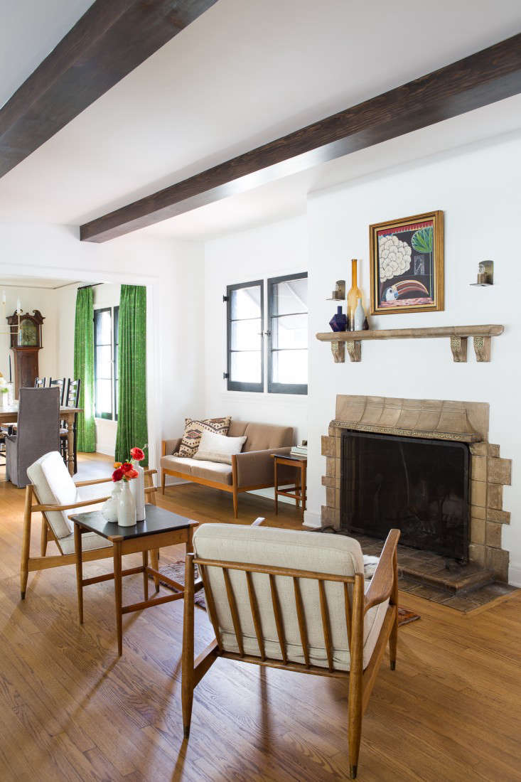 All eras welcome a spanish colonial update in la for Living room 101 atlantic ave boston