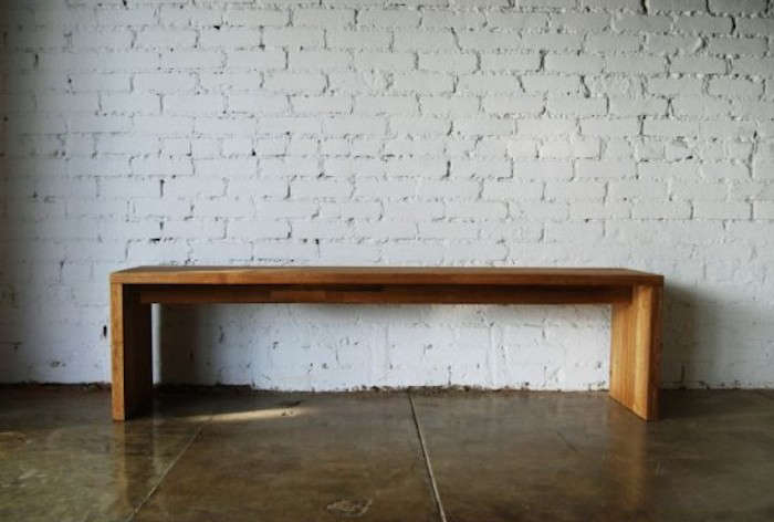 10 easy pieces backless wooden dining benches remodelista for Mash studios lax