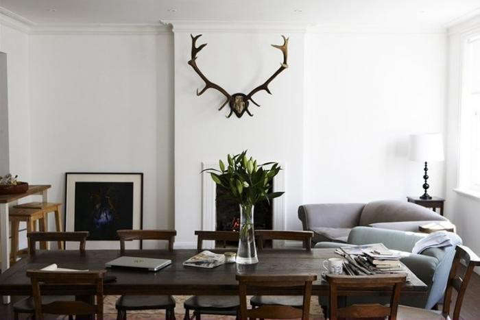 Mat-Collishaw-living-room-antler-horns-Camberwell-London-Remodelista