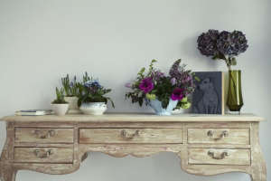 London Victorian House, Bedroom table with flowers | Remodelista