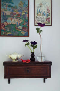 London Victoria House, Framed Embroideries of Gardens | Remodelista