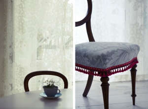 London Victorian House, Marimekko chair covers, Timorous Beastie Net Curtains | Remodelista