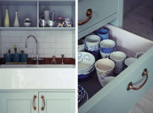 London Victorian House, Kitchen, Subway Tiles, Mixed Crockery | Remodelista