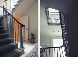 London Victorian House, Stair Hall, Gray Swedish Carpet Runner | Remodelista