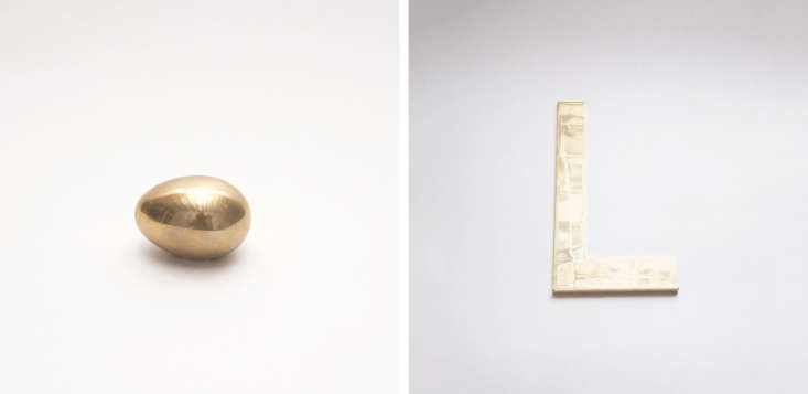McNally-Jackson-Store-Carl-Auboch-brass-egg-and-paperweight-Remodelista