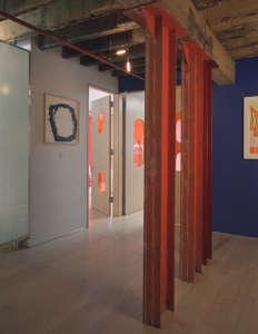 Mesh Architecture, Mott Street Loft, red metail columns, New York | Remodelista