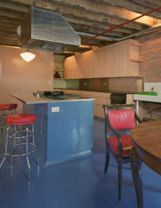 Mesh Architecture, Mott Street Loft, blue floor, New York | Remodelista