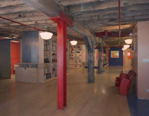 Mesh Architecture, Mott Street Loft red column, New York | Remodelista