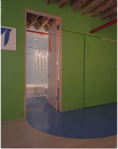 Mesh Architecture, Mott Street Loft bright green walls, New York | Remodelista