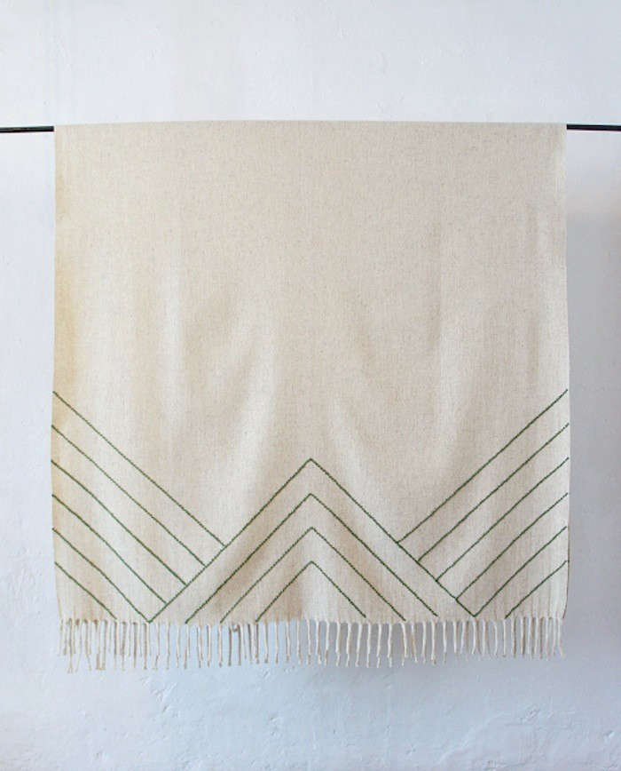 Mexchic-stella-lines-embroidered-blanket-triangle-Remodelista