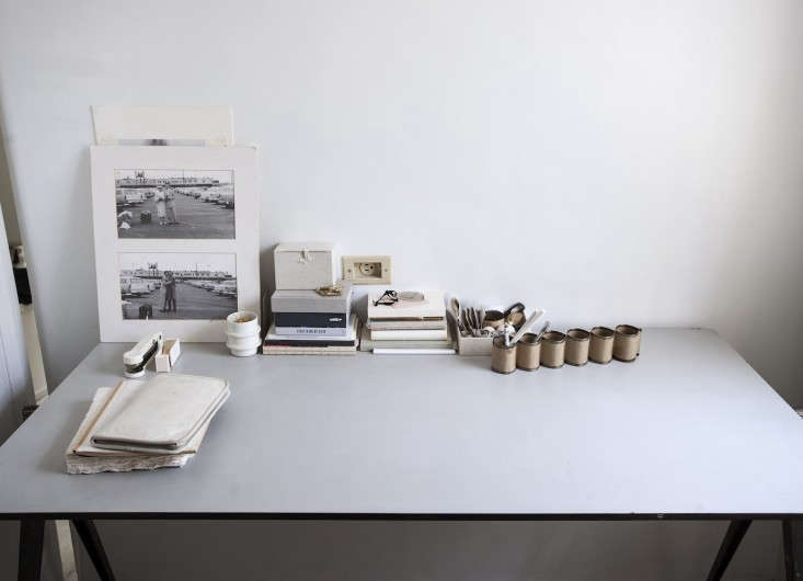 Wim Rieveld 1950s desk in designer Michaela Scherrer's guest room in LA-Matthew Williams photo | Remodelista