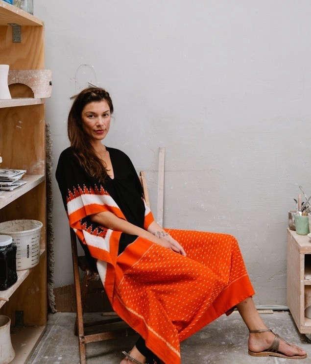 Monica-Patel-Cohn-caftan-made-from-saris-Remodelista