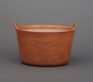 Natural Large Leather Basket by Sol Y Luna I Remodelista