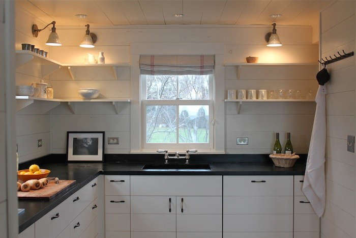 Narusawa Harbor Cottage Kitchen With Soapstone Countertop Remodelista  Soapstone