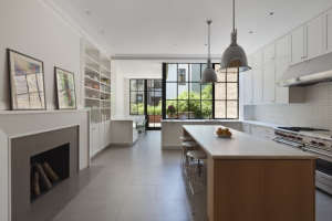 O'neill Rose Architects, white kitchen cabinets in West Side Townhouse NY | Remodelista