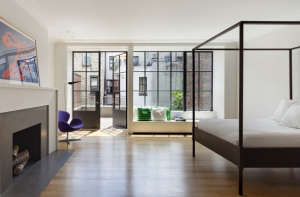 O'neill rose West Side Townhouse, bedroom with terrace | Remodelista