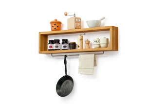 Oak Wood Wall Shelf from Manufactum in Germany | Remodelista