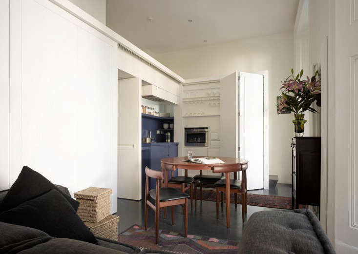 Kitchen of the week a shape shifting studio apartment in london remodelista - Shape shifting house ...
