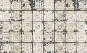 Original Brooklyn Tin Tiles Wallpaper, Merci | Remodelista