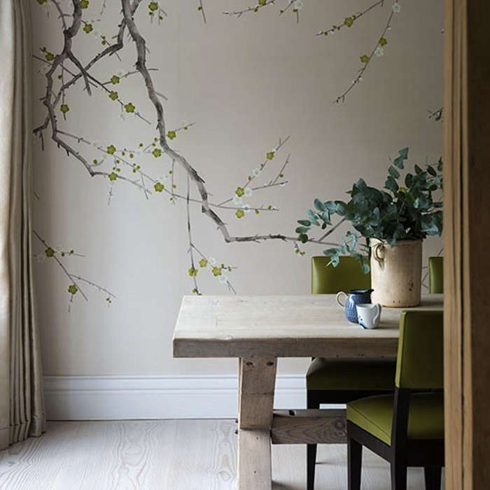 13 Favorites: Rooms with Flora and Fauna Wallpaper ...