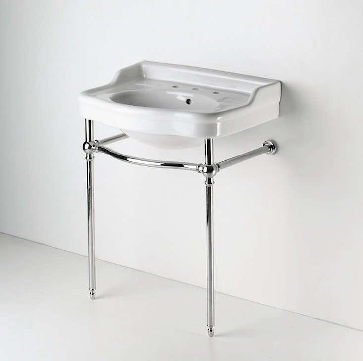 Palladio Metal Round Two Leg Single Washstand