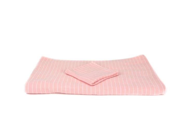 Pin-Stripe-Pink-Cotton-Towel-Remodelista