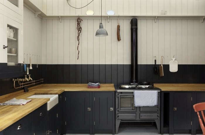 Plain Images Of Kitchen Back Splashes plain modern kitchen backsplash within kitchen Above A Black And White Kitchen From Plain Englishs British Standard Cupboard Line To Learn More Check Out A Kitchen For The People Courtesy Of Prince