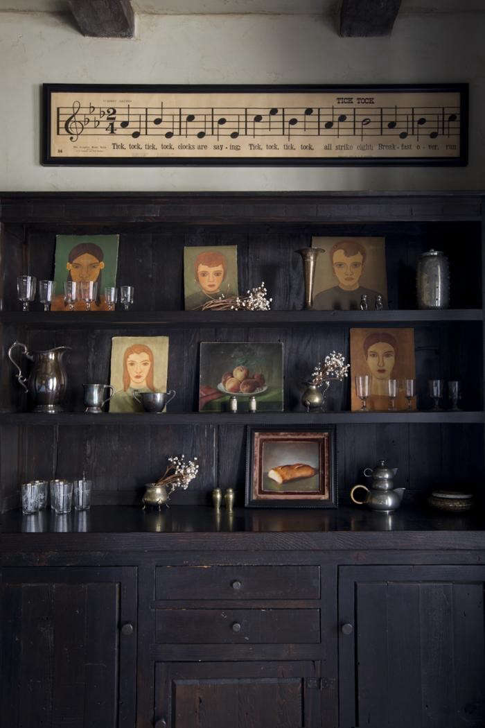 Portraits-as-Decor-Jamie-Kidson-Oakland-built-in-Arts-and-Crafts-sideboard-Remodelista