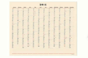 Postalco One Year Wall Calendar I Remodelista