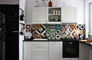 Purpura Colorful Tiled Kitchen Backsplash | Remodelista