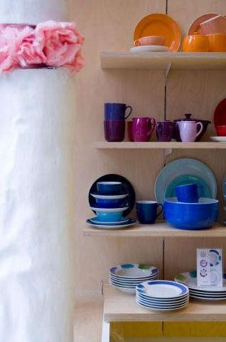 Rae Ganim's Store with Colorful Dinnerware_Remodelista