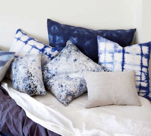 Rebecca Atwood Shibori Pillows, Remodelista