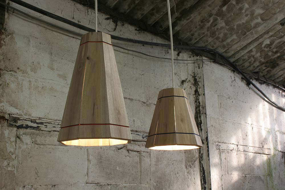 Recycled Pallet Wood Lamps in Large and Small by FactoryTwentyOne