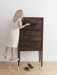 Richard Watson Highboy and stool, Remodelista