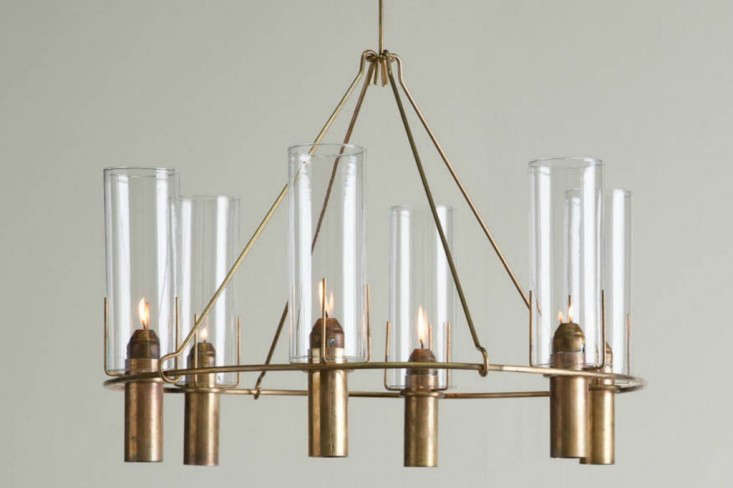 Oliver Chandelier from Robert Long Lighting, a revived sixties company | Remodelista