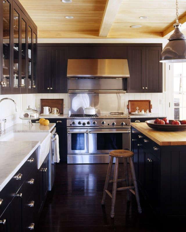 Dark Butcher Block Kitchen Island : Remodeling 101: Butcher Block Countertops: Remodelista