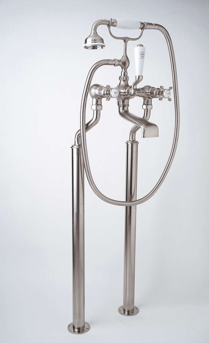Rohl-Perrin-Rowe-Edwardian-Freestanding-Floor-Mount-Tub-Filler-Handshower-Remodelista