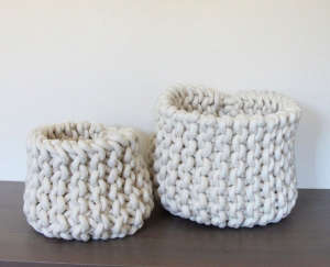Two Nesting Rope Baskets | Remodelista