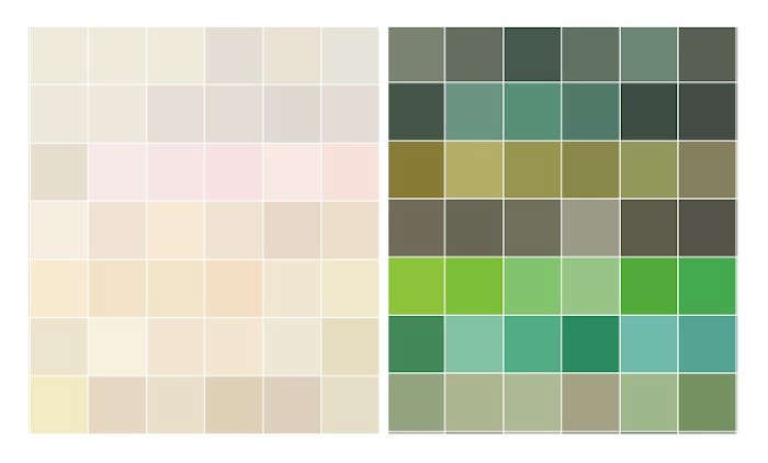 Sherwin-Williams Whites and Greens