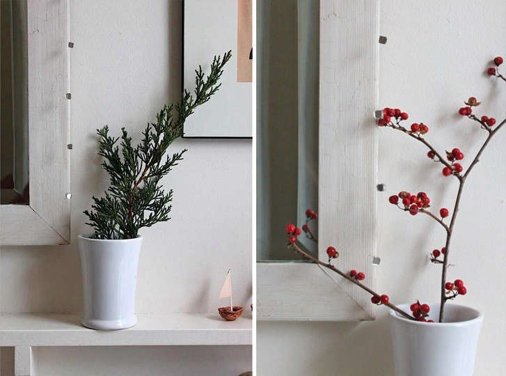 Simplest Holiday Arrangements, Design Skool, Remodelista