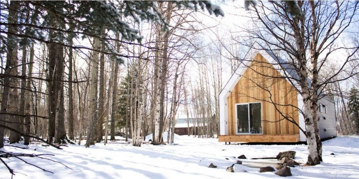 Small Modern Cabin Farmhouse in Snow in Canada, Remodelista