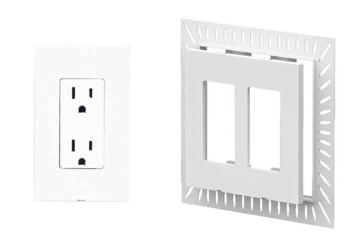 Smoothline is moderately priced: Its White 1-Gang Drywall Installation is $10.95 for a flush-mount wall box and faceplate; these work with the standard outlet electric parts (not included) for a flush-mount application.