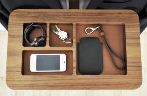 Soren Rose Gentlemen's Valet, black stained oak accessories tray | Remodelista