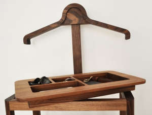 Soren Rose Gentlemen's Valet, black stained oak acessories tray | Remodelista