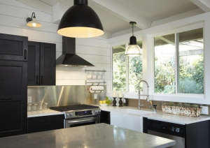 Studio One, black Ikea kitchen cabinets, SF | Remodelista
