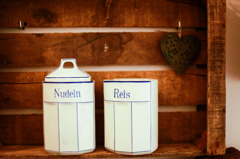The Parlour Dinners Dried Goods Containers Ceramic White and Blue