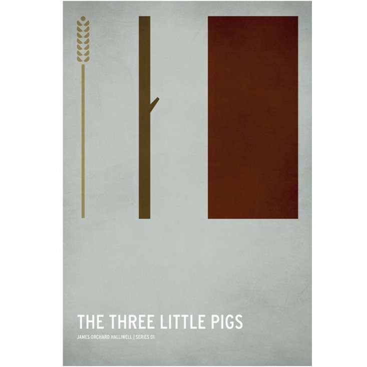 The Three Little Pigs Graphic Poster for Kids, Remodelista