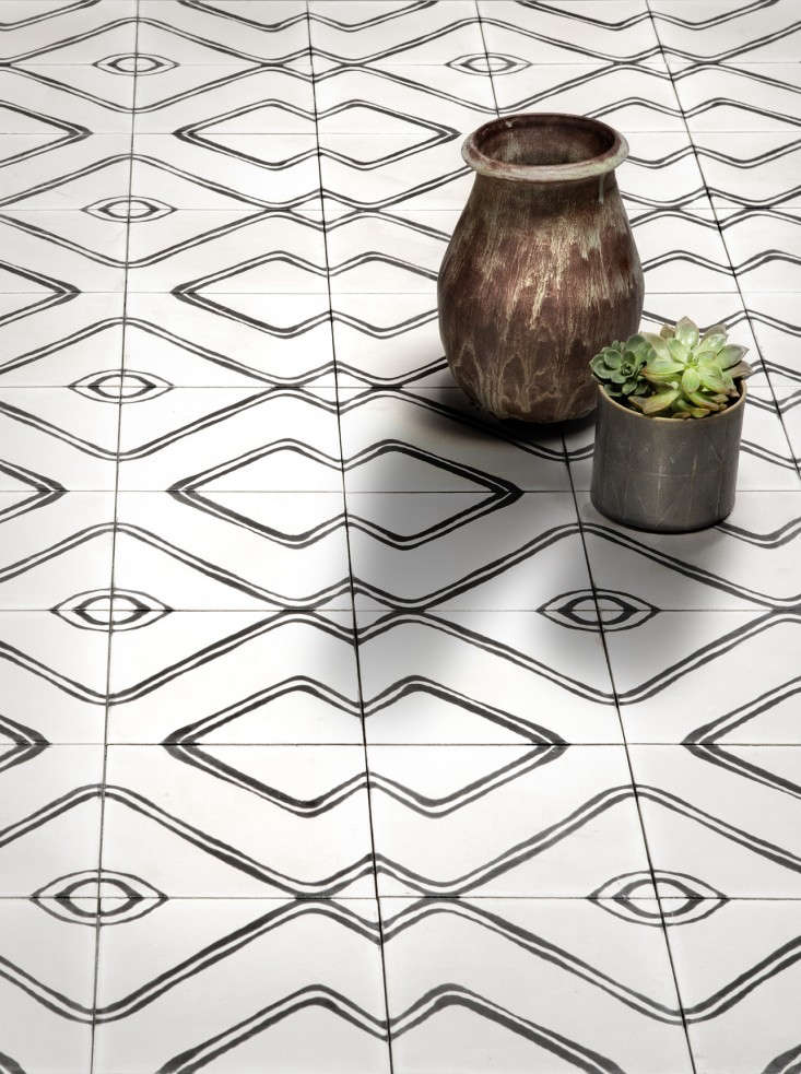 Living in black and white commune 39 s new concrete tiles for Floor cement tiles