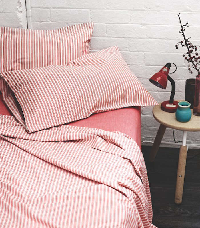Ticking-Stripe-Sheets-from-Aura-Red